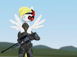 derpigun and a sniper by quinoproductions
