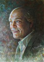 John Malkovich Painting Portrait. by Drawing-Portraits