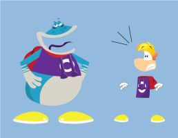 Rayman and Gloman by gemstonelover49