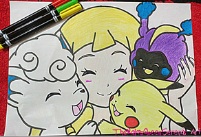 Lillie with Pokefriends~ by TheKalosQueenSerena
