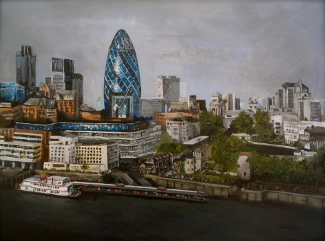 London Skyline by the-queen-of-spades
