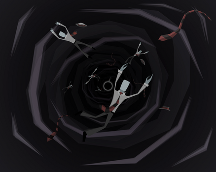 Down the Red and Black Hole by -aa