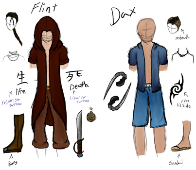 Avatar OC Fire/Water outfits by hell-kill