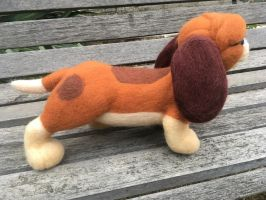 Copper - Needle Felting Sculpture - Side View by NostalgicChills