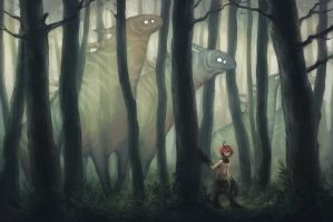 Forest spirits by kinixuki