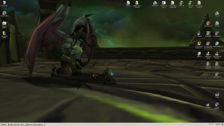 My Lord Illidan - Desktop Screenie by tirsden