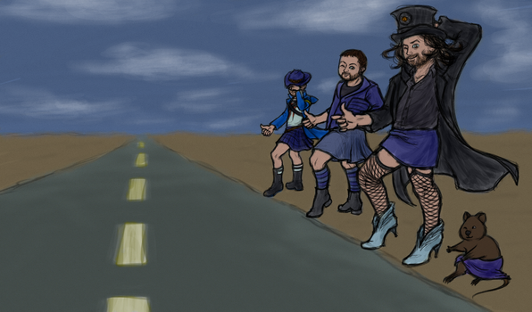 Hitchhiking-Devs-color by MelAddams