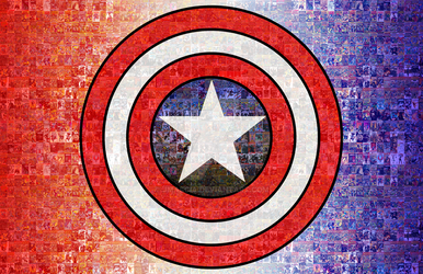 Captain America Photomosaic by jmascia