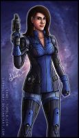Mass Effect: Ashley Williams by Lukael-Art