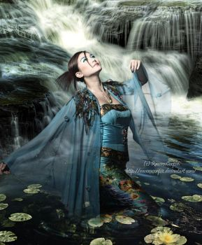 Water Goddess by RavenxCorpse