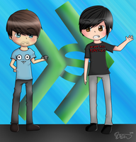 Smosh - Anthony and Ian by iPandaChan