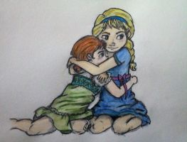 Sisters: Elsa and Anna - Frozen by PazGranger