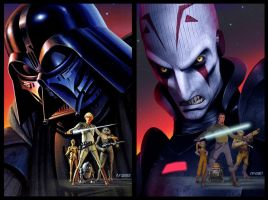 Vintage Style McQuarrie Rebels Poster 3 Comparison by Brian-Snook