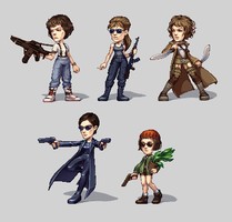 pixel ladies by omg-its-mits