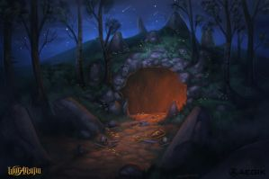 Dragon cave by Amanda-Kihlstrom
