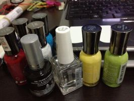 Nail polishes by xsheervanilla