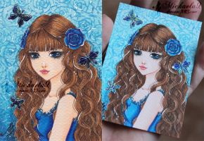 29. ACEO - Blue(s) by Michaela9