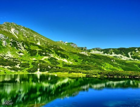 Mountains - Green Pond by miirex