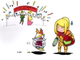 The Metroid Remembered by Paperfiasco