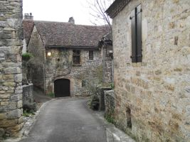 Loubressac 06 medieval street by HermitCrabStock