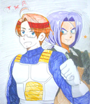 Crossover: Trunks and America by ClumsyTea