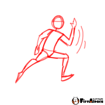 Running animation outline by Lalalover4everYT
