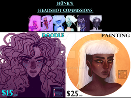 Headshot Commissions || CLOSED by H0nk-png