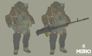 Metro heavy armored soldier by obokhan