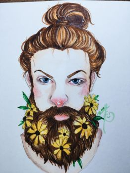 Flower beard  by AfterNoonZ
