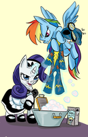 Rarity the maid by LytletheLemur