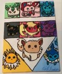 Canvas Panel: Eeveelutions by wolf-girl87