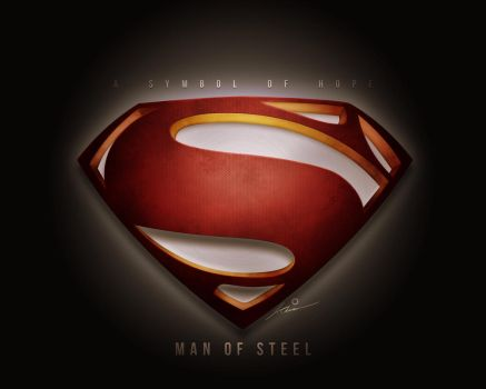 A Symbol of Hope (Man of Steel Fan Poster) by Image-Six