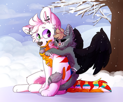 (C) Ill keep you warm|Chimerafrost by Derepesy