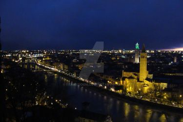 Verona from the tops 2 by Frankdoom