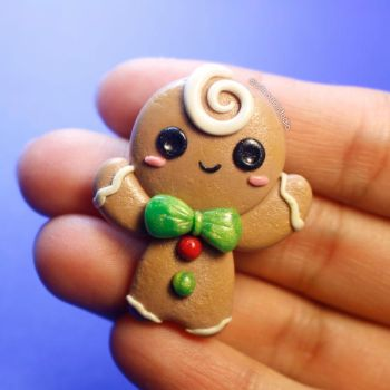 Gingerbread Man Magnet by LizClaudia