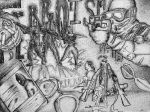 Tactical Assault Stipple Drawing by mentos888