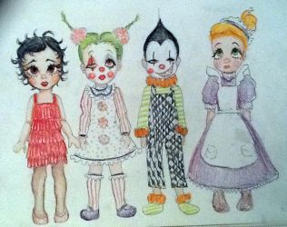Four Dollies by 17cherry