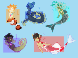 Mermaid adopts 0/5 -CLOSED- by candyffloss