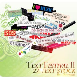 Text Festival II by downgirl