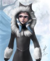 Ahsoka in winter coat by Montano-Fausto