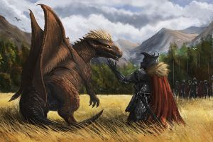 No To Dragon Slaying! XD by feenixfabay