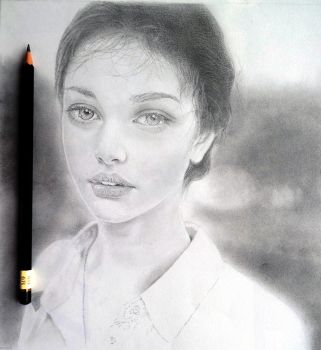 Portrait Drawing 1 by Quncy