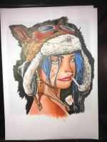 tank girl in promarker by Paintingwithneedles