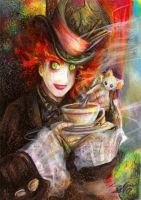 The Hatter -  Tim Burton ver by eikomakimachi