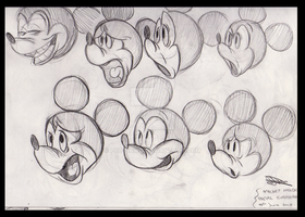 Mickey Mouse (Stretched Expression Studies) by POB-DAWG