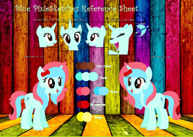 Blue PixieSketches Reference Sheet by GalaxyPixies45