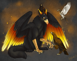 Feathered friends by Bear-hybrid