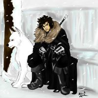 The Wall is yours Jon Snow by AlexielApril