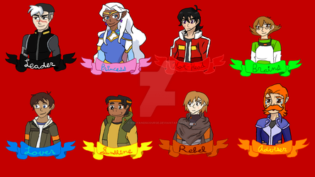 Voltron Badges by RosyandScourge