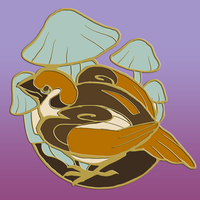 Bird And Mushroom: Psilocybe Sparrow by skulldog